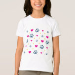 Paw Prints and Hearts T-Shirt