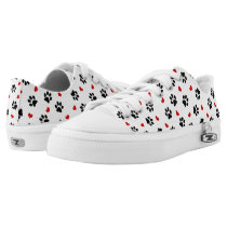 Paw Prints and Hearts Unisex Low Top Sneaker