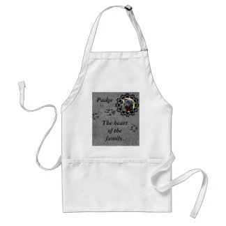 Paw Prints and Photo Adult Apron