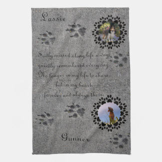 Paw Prints and Photo Hand Towels