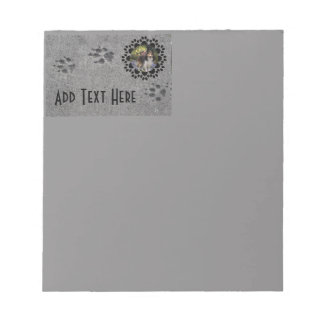 Paw Prints and Photo Notepad