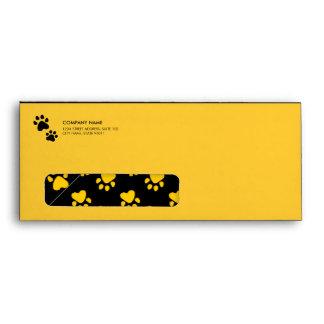 Paw Prints - Animal Care Veterinary envelope