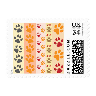 Paw Prints Background Postage