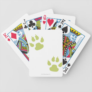 Paw Prints Bicycle Playing Cards
