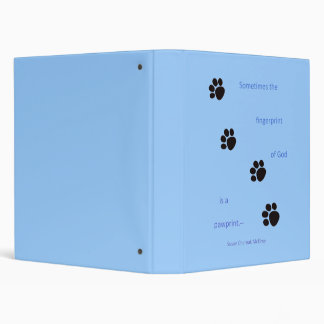 Paw Prints Binder