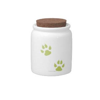 Paw Prints Candy Jar