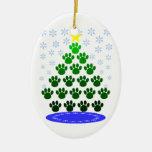 Paw Prints Christmas Tree Ornament