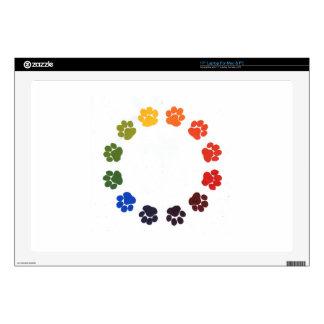 """Paw Prints Circle Skins For 17"""" Laptops"""