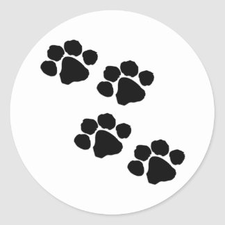 Paw Prints Classic Round Sticker