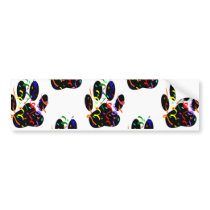 Paw Prints Confetti And Party Streamer Pattern Bumper Sticker