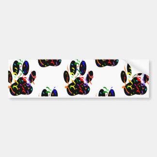 Paw Prints Confetti And Party Streamer Pattern Bumper Sticker
