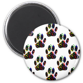 Paw Prints Confetti And Party Streamer Pattern Magnet