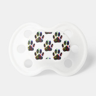 Paw Prints Confetti And Party Streamer Pattern Pacifier