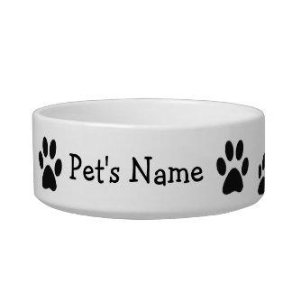 Paw Prints Custom Dish Cat Water Bowls