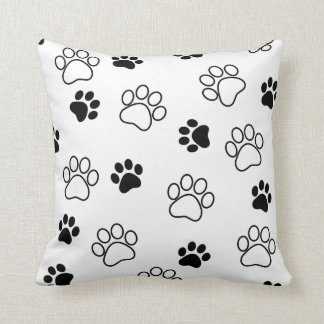 Paw prints customizable colorful pillow