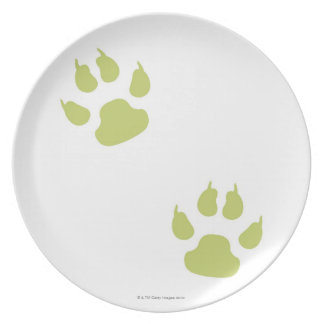 Paw Prints Dinner Plate