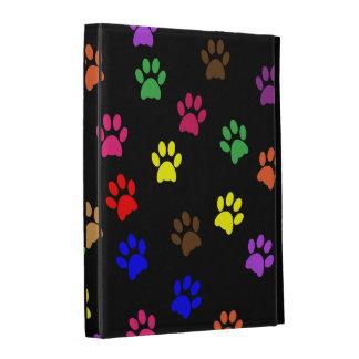 Paw prints dog pet colorful fun cute pattern, gift iPad folio case
