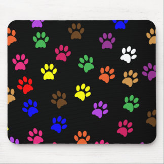 Paw prints dog pet colorful fun mousepad