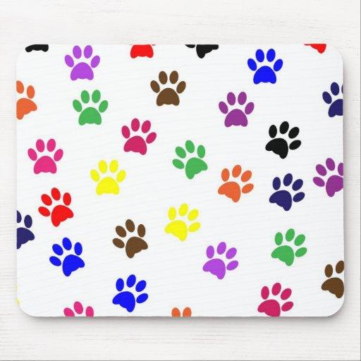 Paw prints dog pet colorful mousepad