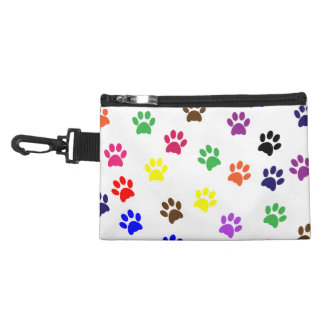 Paw prints dog pet fun colorful cute pawprints accessory bag