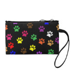 Paw prints dog pet fun colorful cute pawprints coin wallets