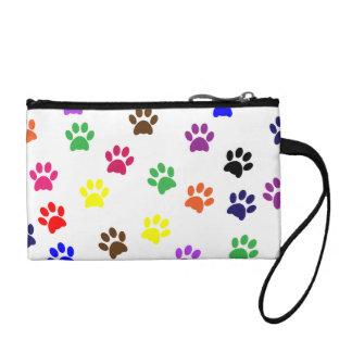 Paw prints dog pet fun colorful cute pawprints coin wallet