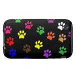 Paw prints dog pet fun colorful cute pawprints iPhone 3 tough covers