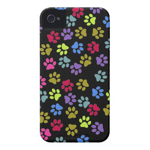 Paw prints dogs cats dog cat print animal pet pet iPhone 4 cover