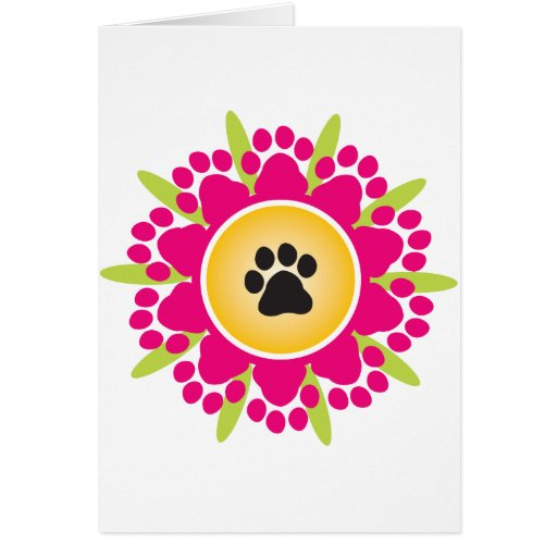 Paw Prints Flower Cards