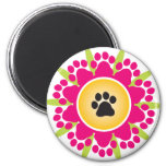 Paw Prints Flower Magnet