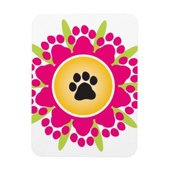 Paw Prints Flower Magnet
