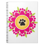 Paw Prints Flower Notebook