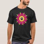 Paw Prints Flower T-Shirt
