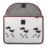 paw prints foot prints sleeve for MacBook pro
