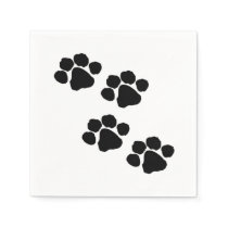Paw Prints For Animal Lovers Napkin