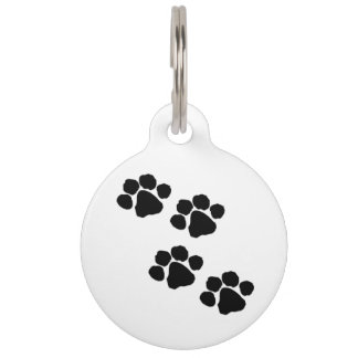 Paw Prints For Animal Lovers Pet Name Tag