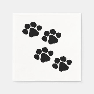 Paw Prints For Animal Lovers Standard Cocktail Napkin
