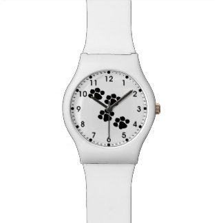 Paw Prints For Animal Lovers Wristwatch
