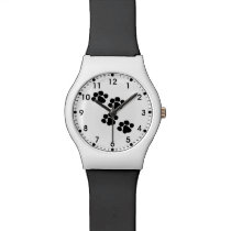 Paw Prints For Animal Lovers Wrist Watch