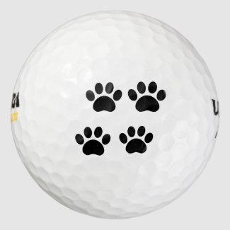 Paw Prints Golf Ball