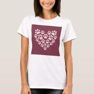 Paw Prints Heart T-Shirt