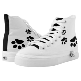 Paw Prints High-Top Sneakers