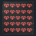 """Paw Prints In My Heart by Shirley Taylor Bandana<br><div class=""""desc"""">Paw prints in my heart bandana. Click on the customize button to add your text or change the background color to your choice. Image can be rotated or re-sized.</div>"""