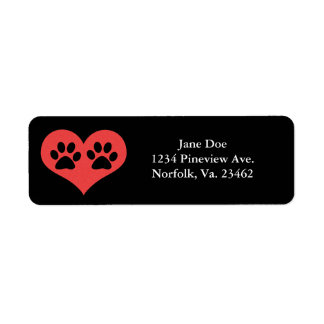 Paw Prints In My Heart by Shirley Taylor Label