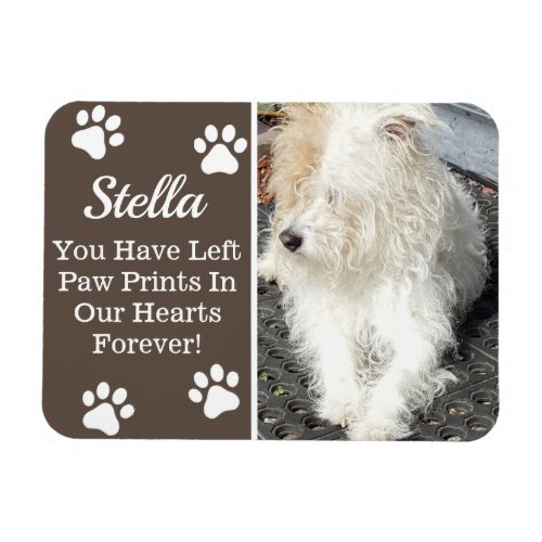 Paw Prints In Our Heart, Loss of Pet Magnet