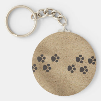 Paw Prints in the Sand Keychain