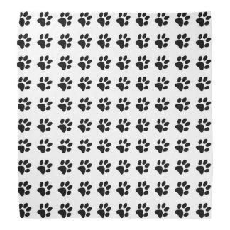 Paw Prints in White and Black Bandana