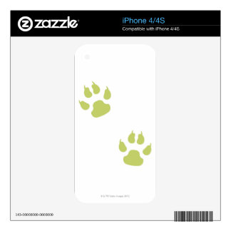 Paw Prints iPhone 4S Skin