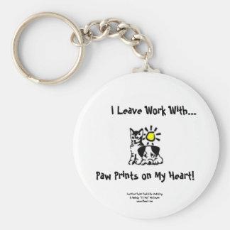 Paw Prints Keychain