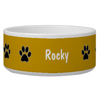 Paw Prints Large Dog Bowl